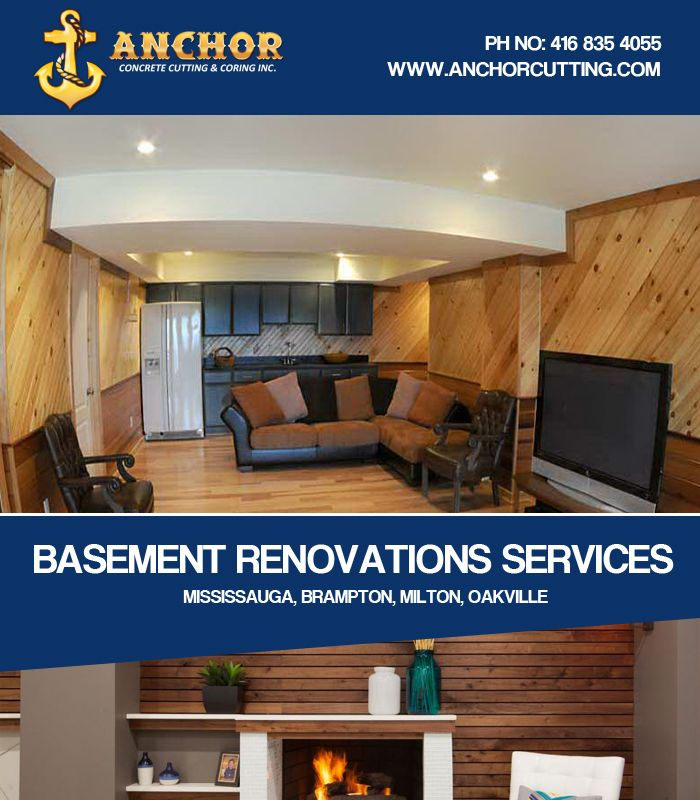 If you want #renovate your #basement then meet us because we #specialized in basement #finishing in #Brampton. #BasementRenovationServicesBrampton #BasementRenovation Give us call Today :- 416-835-4055 7900 Hurontario Street L6Y 0C7 Brampton, Ontario http://www.anchorcutting.com/basement-renovations-services.html
