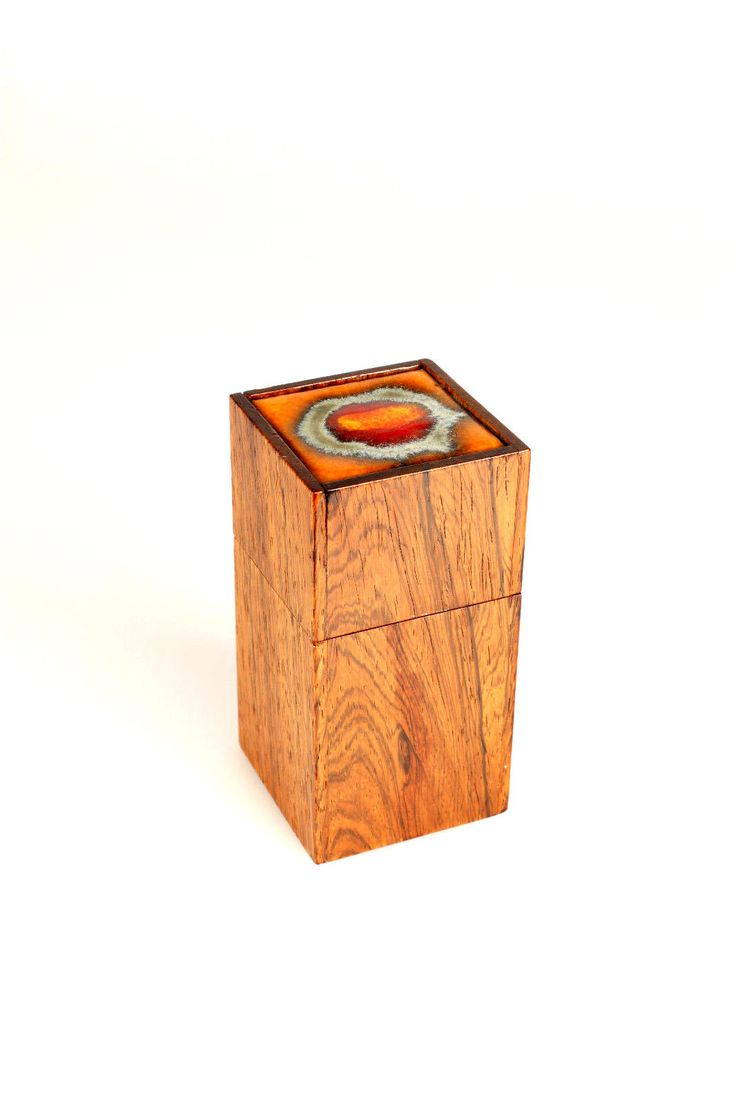 Alfred Klitgaard Brazilian Rosewood Box with Ceramic Tile by Bodil Eje