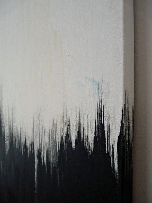 Striking DIY Black And White Painting   Shelterness