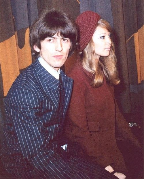 1966 - George Harrison and his ex-wife Patty Boyd.