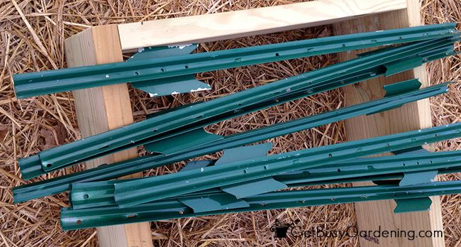 Stakes Used To Build Arch Trellis