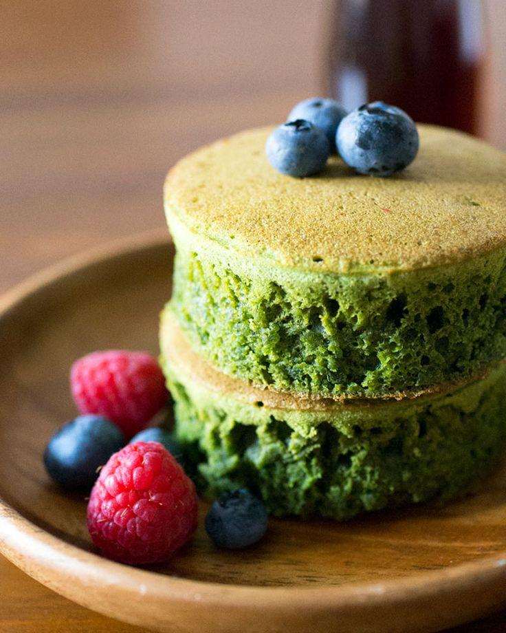 Matcha (Green Tea) Pancakes | Oh, How Civilized