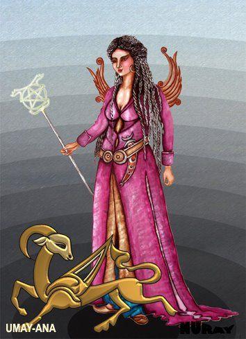 """TANRIÇA UMAY Umay, çocukları ve hayvan yavrularını koruyan bir tanrıçadır. Türk mitlerinde, Umay anaya, savaşa giden yiğitler, savaşta başarı kazanmak için dua ederler ve ona """"Umay beg"""" gibi eril bir nitelik vererek seslenirlerdi. Bazı topluluklarda da Umay ölüm meleğidir. Sümer mitlerinde de Venüs ile özdeşleştirilen İnanna, hem aşk hem de savaş tanrıçasıydı. Yani hayatı ve ölümü yönetiyordu. Ne kadar güçlü olduğunu belirtmek için de hermafrodit (eril-dişil) olduğu söyleniyordu. Venüs…"""