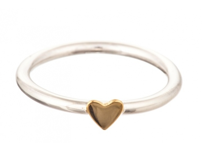 Betty Bogaers Ring R19/gold Heart : Jewelz en More