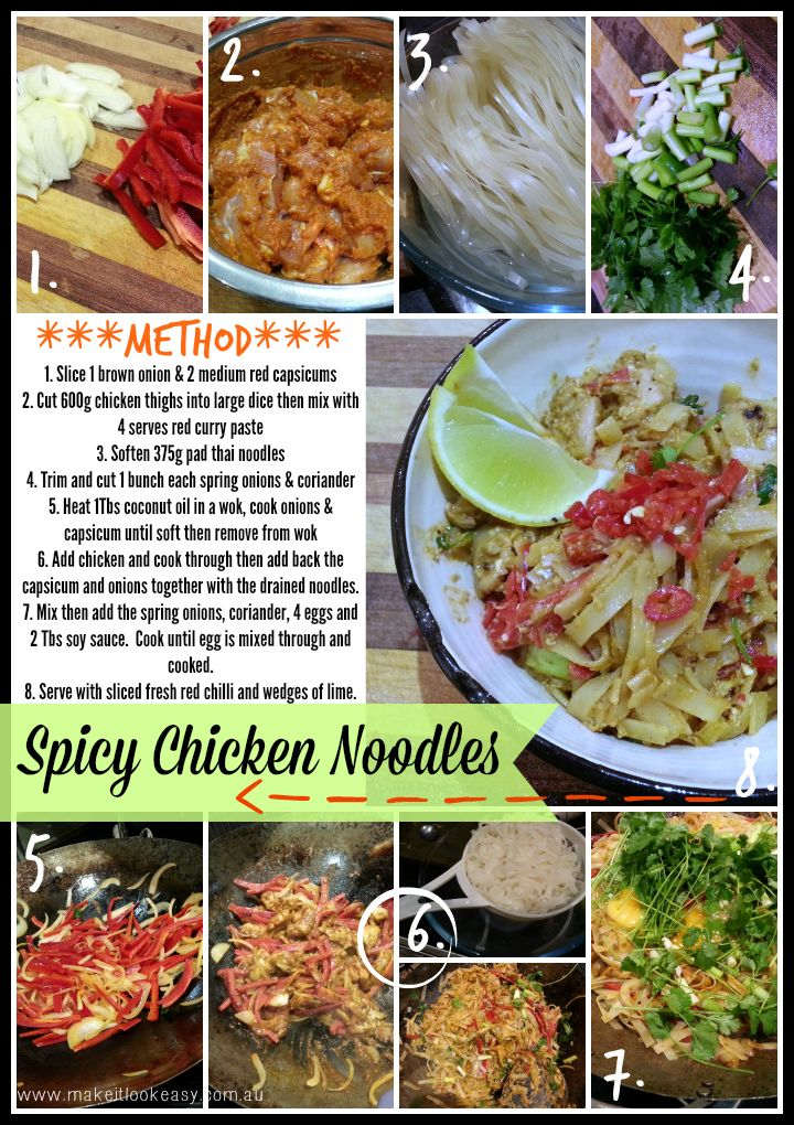 Spicy Chicken Noodles  #easymeals #noodles