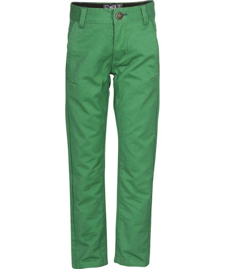 Super pantalon coupe classique en vert par Molo #emilea