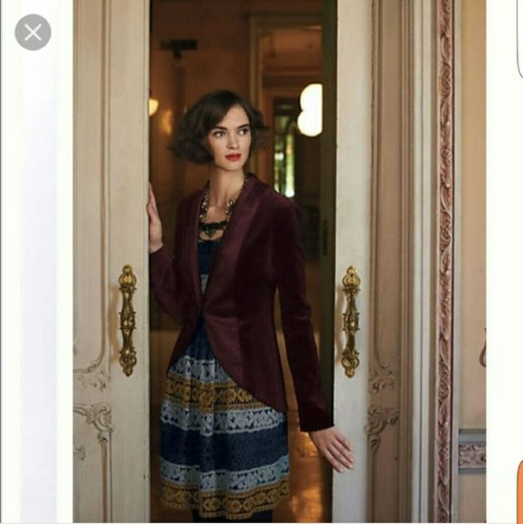 """Anthro maeve crochet dress Fit and flare dress. Side zipper. Never been worn. Dress is fully lined  L: 37"""" Waist:13"""" Bust:16"""" Anthropologie Dresses"""