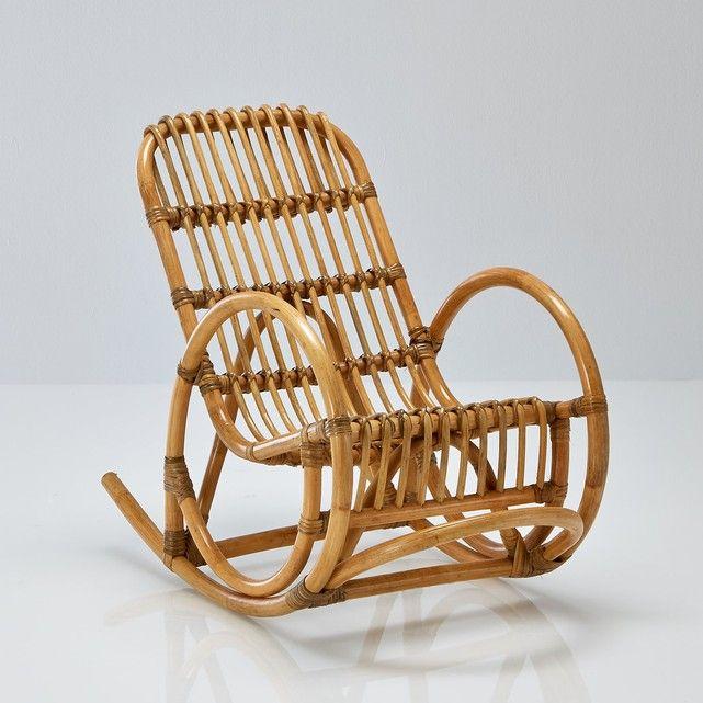 Cadeira de baloiço para criança, em rotim, Malu
