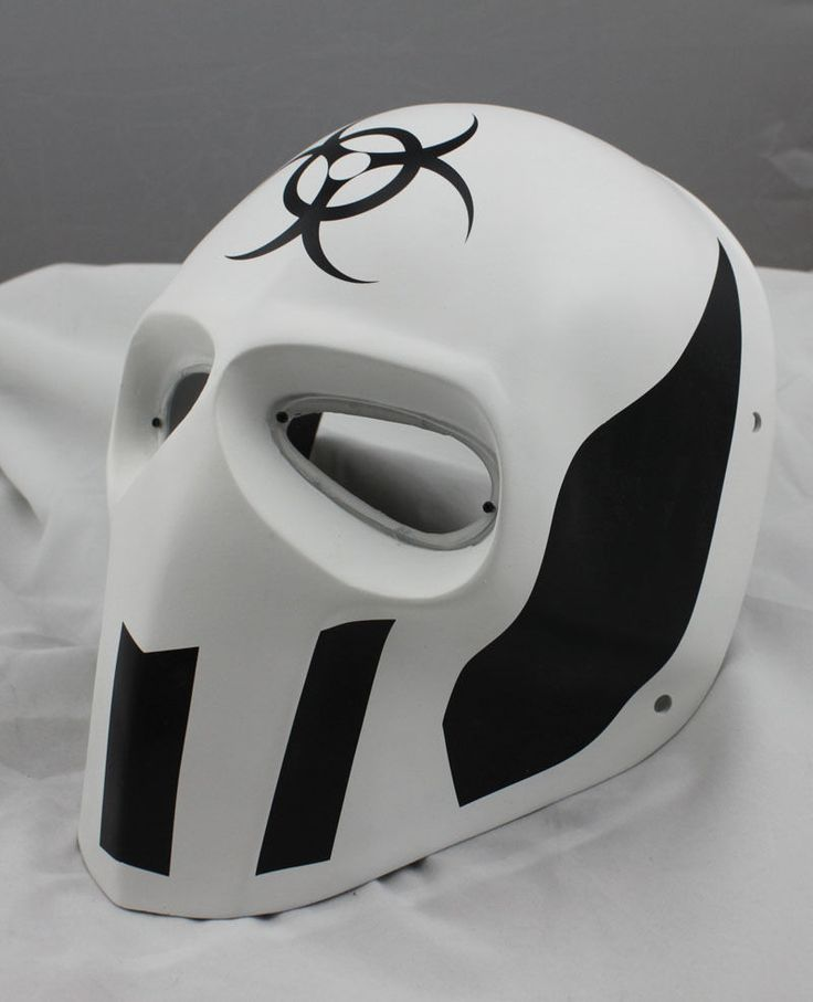 COOL White PROP Paintball Airsoft Full Face PC Lens Eye Protection Skull Mask #FMA