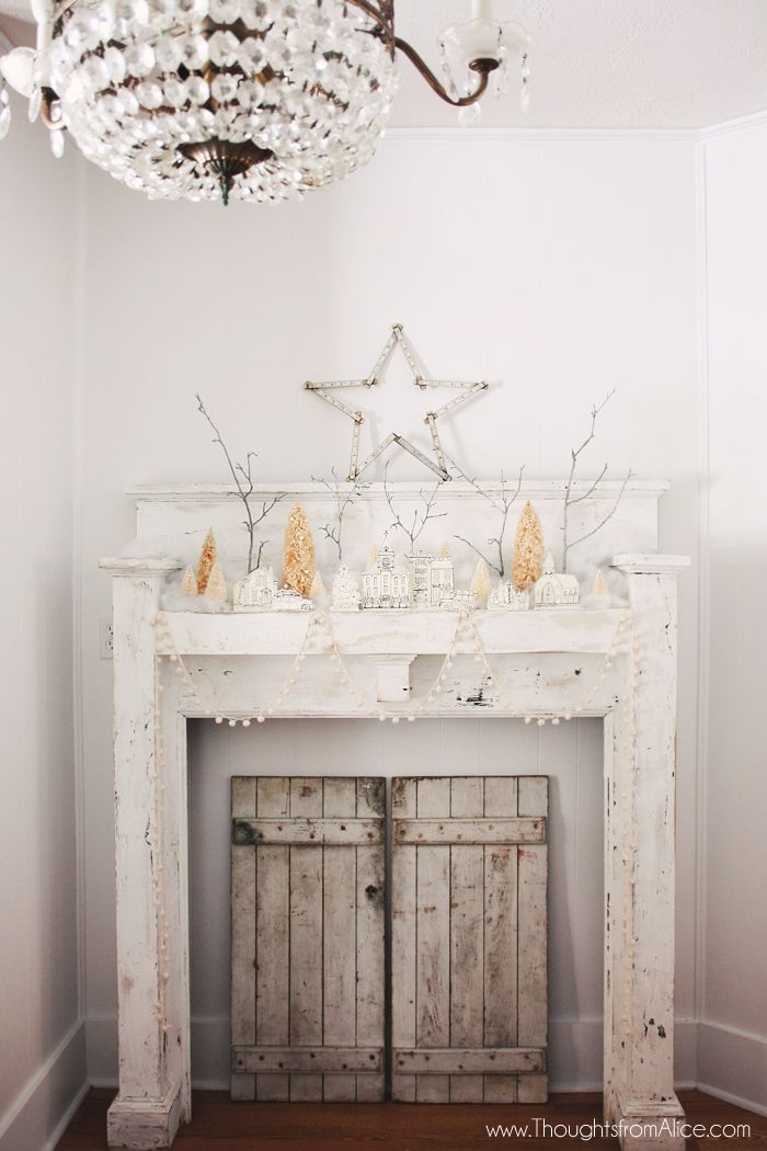 Thoughts from Alice: DIY Printable Christmas Village {Anthropologie Inspired}