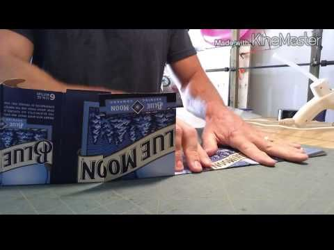How to make a Beer box visor - YouTube