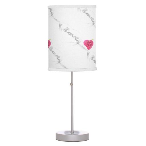 RomanceMe Red heart rose Linen Lamp