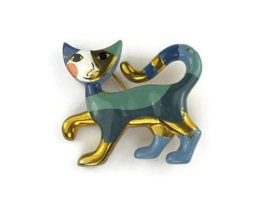 Rosina Wachtmeister Cat Brooch