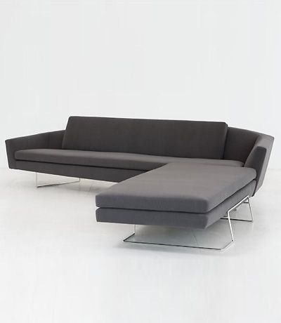 every inch is tapered or shaped u2013 there are no right angles the upholstered sculpted seat is suspended and cradled in an external plated steel frame