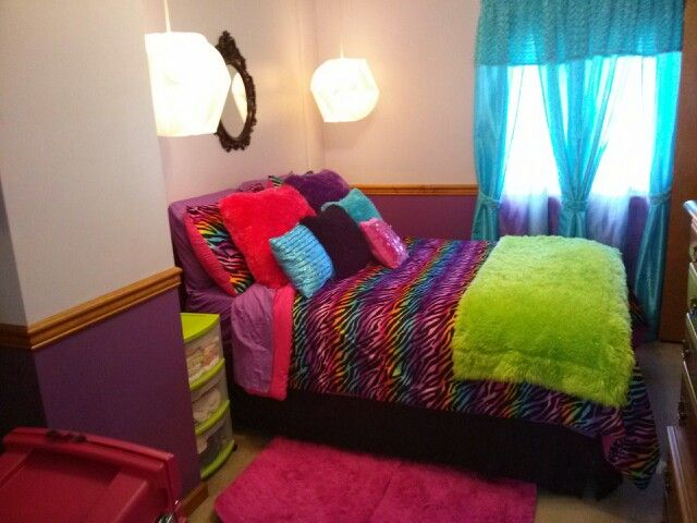 16 best images about big girls 39 room on pinterest for Rainbow kids room