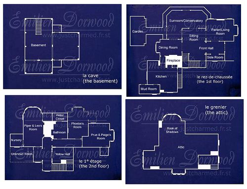 Charmed halliwell manor blueprints sims stuffs for 12 grimmauld place floor plan