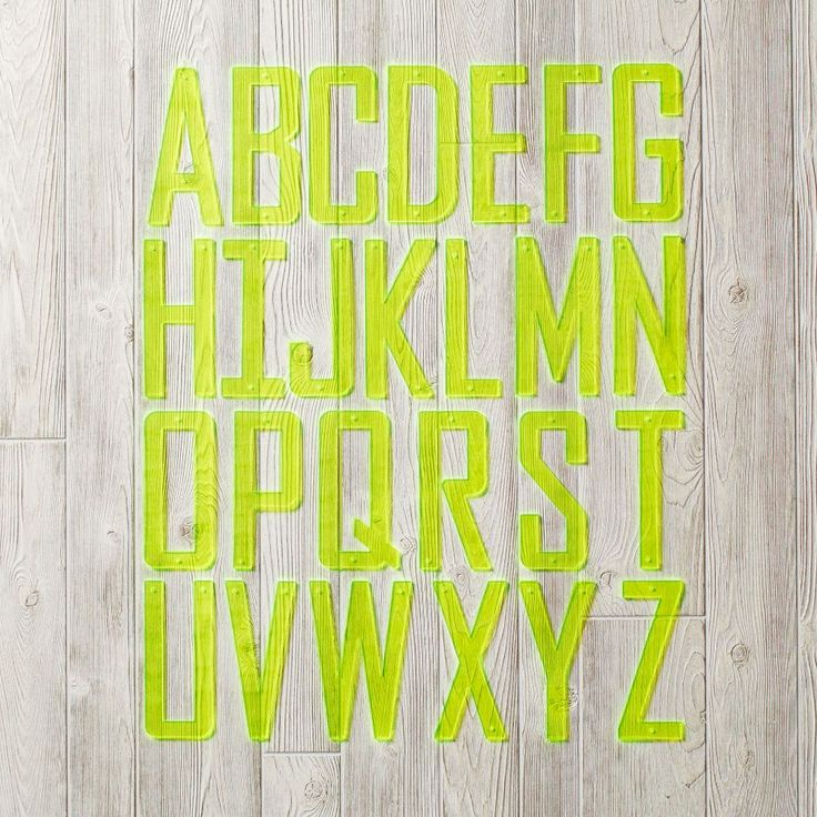 Neon Yellow Acrylic Wall Letters | The Land of Nod