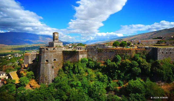 The most beautiful place I have visited :) #coloursofalbania — at Kalaja E Gjirokastres.