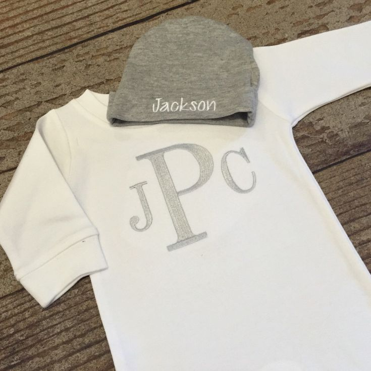 Newborn baby boy coming home outfit, monogrammed romper, baby shower gift, hospital pictures, monogram outfit, romper and cap by skkilby21 on Etsy https://www.etsy.com/listing/266244436/newborn-baby-boy-coming-home-outfit