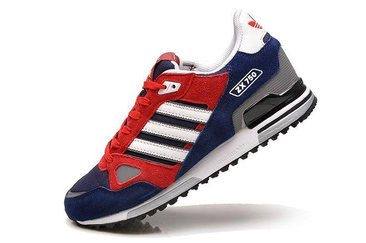 Men Adidas Originals ZX 750 Running Shoes Red {ompN6} 1