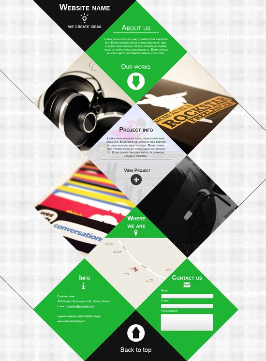 35 Web Designs Layouts With Unusual Shapes And Geometry