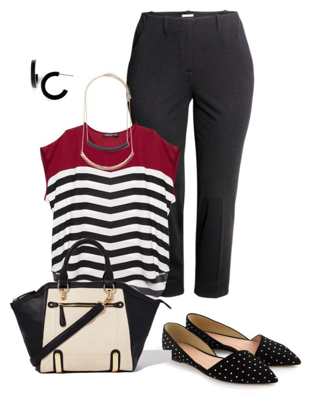 plus size work look by kristie-payne on Polyvore featuring Wet Seal, H&M, J.Crew, L. Erickson and Forever 21