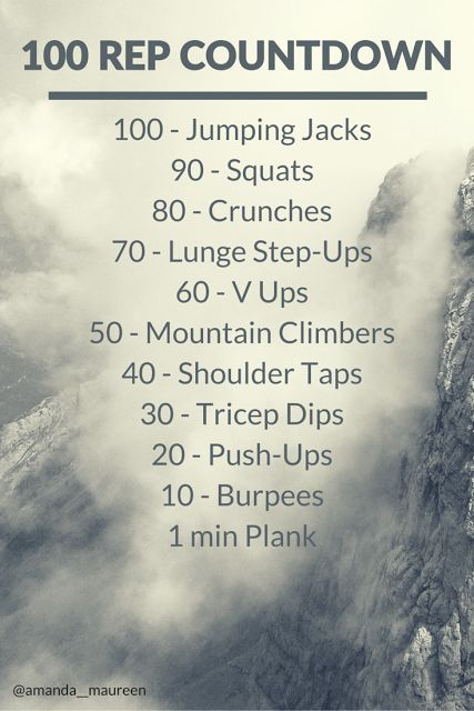 Unapologetically You: Workout Wednesday - 100 Rep Countdown