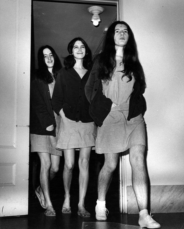 Murder Trial Photos of Charles Manson and the Manson Family from 1969 to 1971