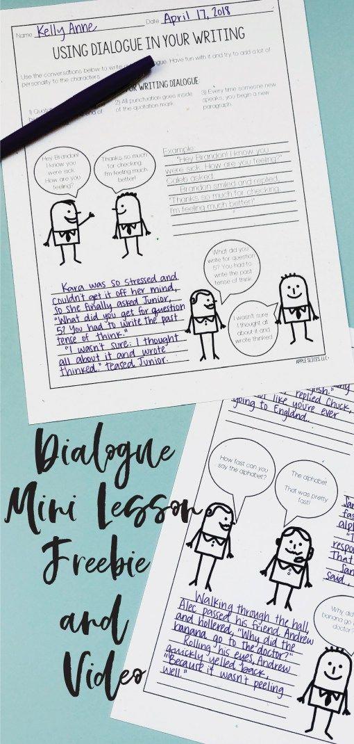 Using Dialogue Writing Mini Lesson | ELA 6fdr | Writing mini
