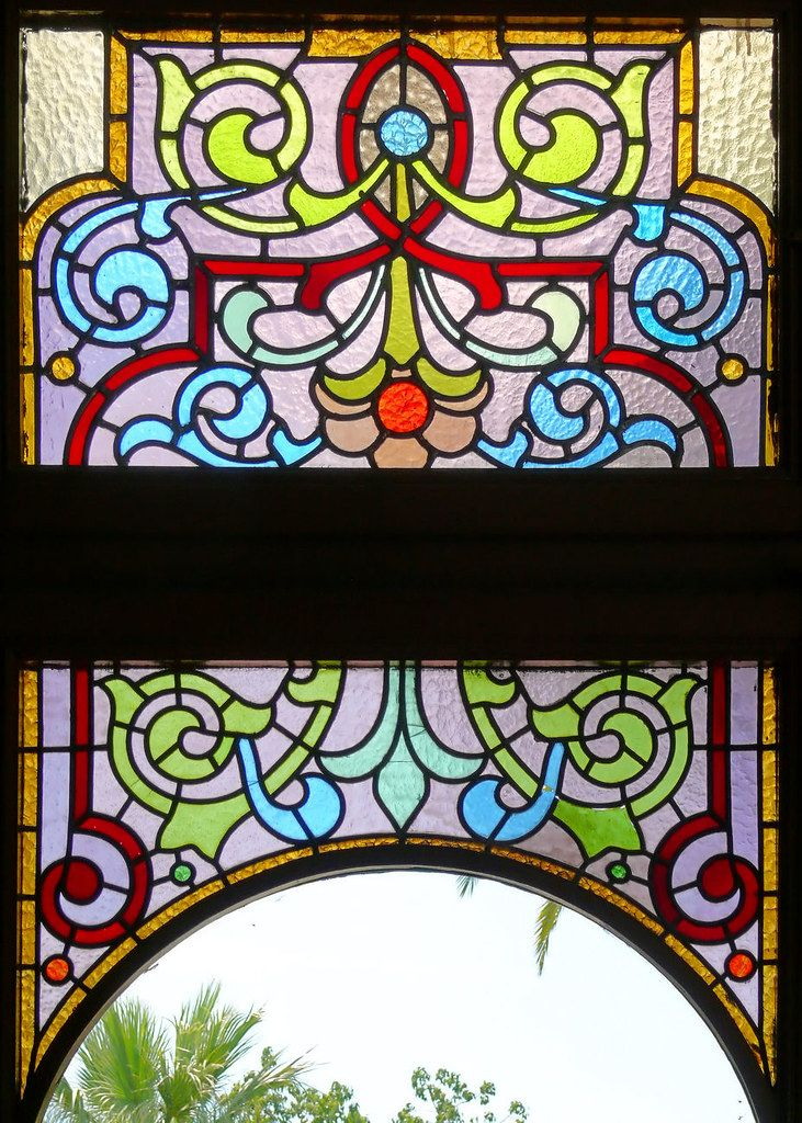 Barcelona Passeig Mare De Déu Del Coll 041 O Stained Glass Flowers Stained Glass Window Panel Glass Flowers