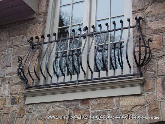 Raleigh Wrought Iron and Fence Co. Custom Wrought Iron Balcony in Raleigh NC, Durham, Chapel Hill