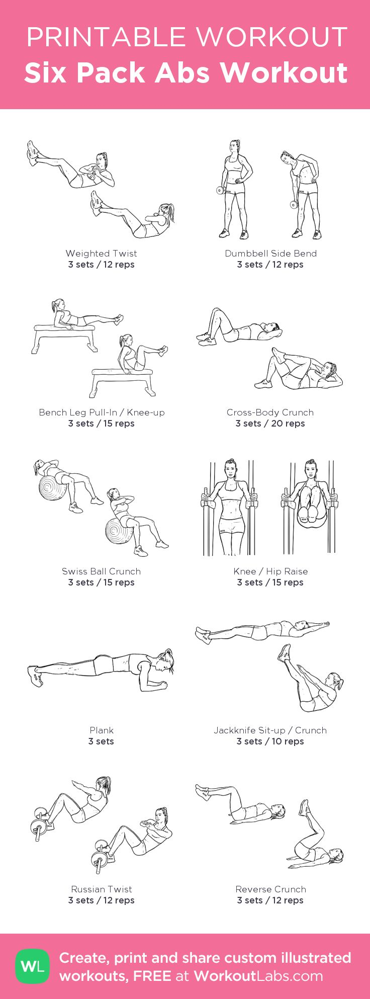 This is a picture of Revered Printable Ab Workouts
