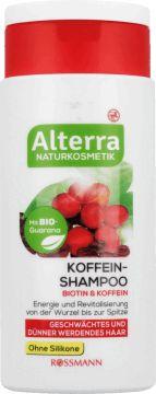 Alterra,  szampon do włosów osłabionych i przerzedzających się, Biotyna & Kofeina, 200 ml, nr kat. 150966