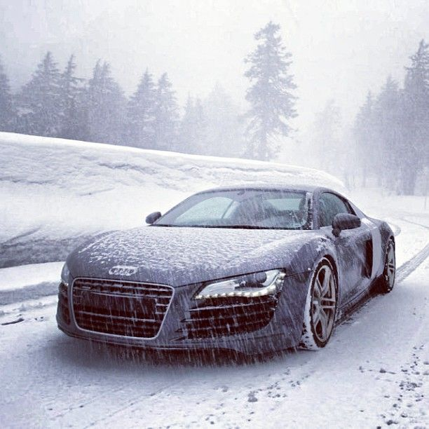 Audi R8. Let it snow, let it snow, let it snow.