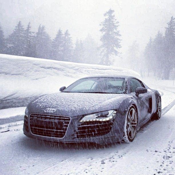 Audi R8. Let it snow, let it snow, let it snow.