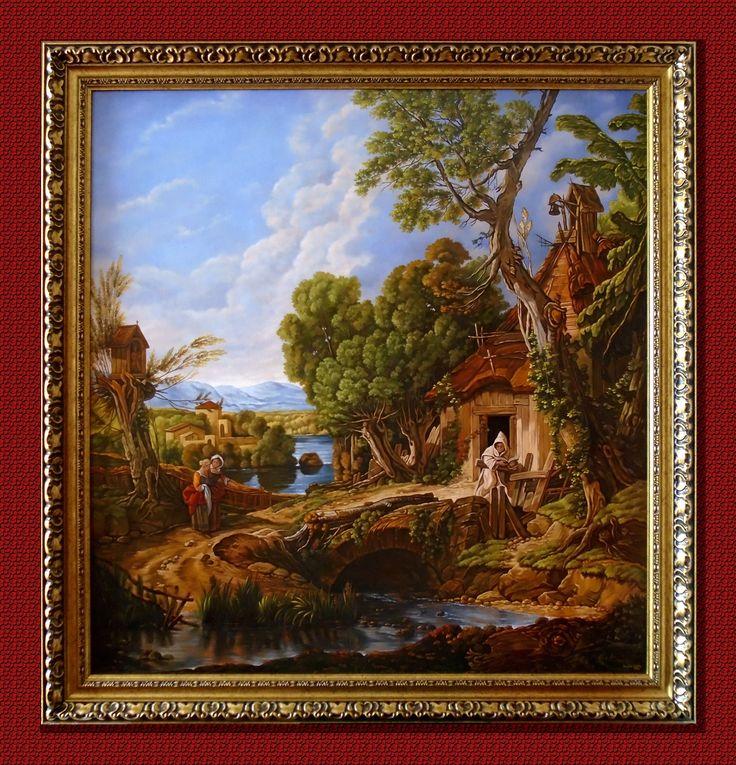 Pustelnik,  100cm x 95cm,  Obraz olejny na płótnie