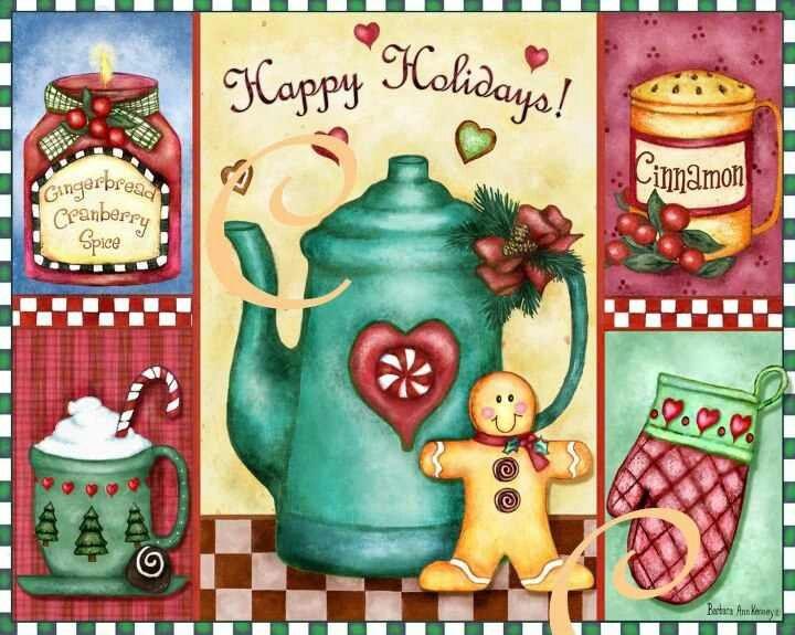 Лицензию Рождество искусство Барбары Энн Кенни для разделочных досок, лотки, подставки по Evergreen, Richmond, VA