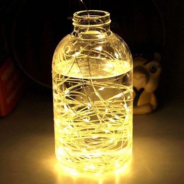 LED String Light Mini Vízálló Tündérfák karácsonyra Ünnepek Kert Hálószoba Hálószoba Esküvői Dekoráció Kültéri beltéri lámpa