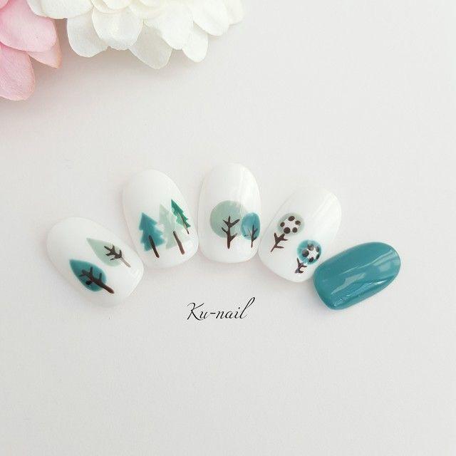 Nordic-themed nail art