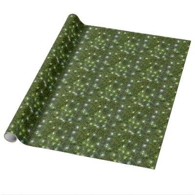Green Privet Hedge with Starlight Gift Wrapping Paper