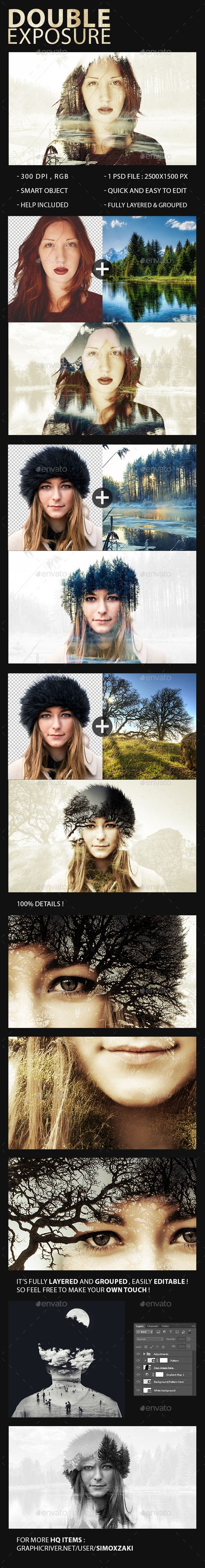 Double Exposure Maker  -  PSD Template • Download ➝ https://graphicriver.net/item/double-exposure-maker/11097407?ref=pxcr