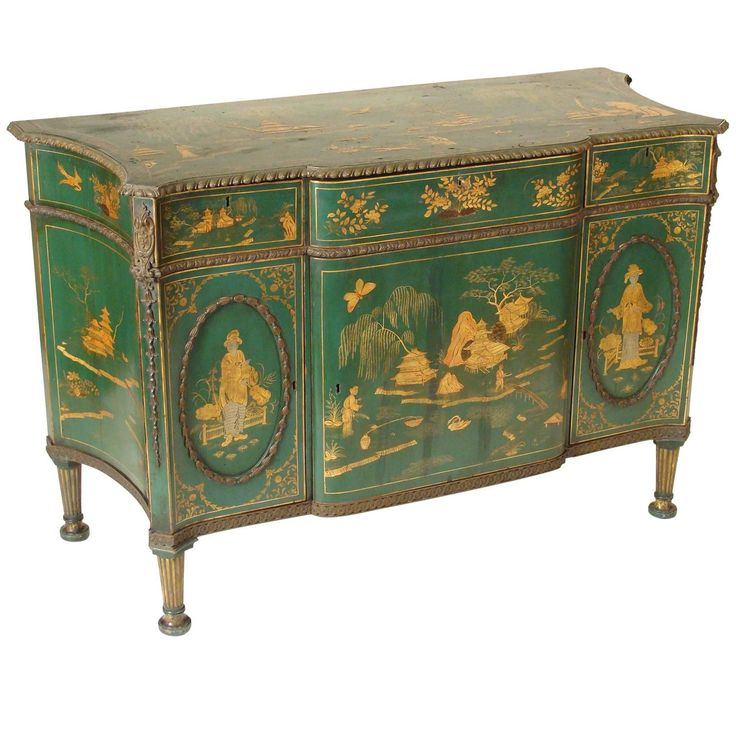 Green Chinoiserie Decorated George III Cabinet | From a unique collection of antique and modern cabinets at https://www.1stdibs.com/furniture/storage-case-pieces/cabinets/