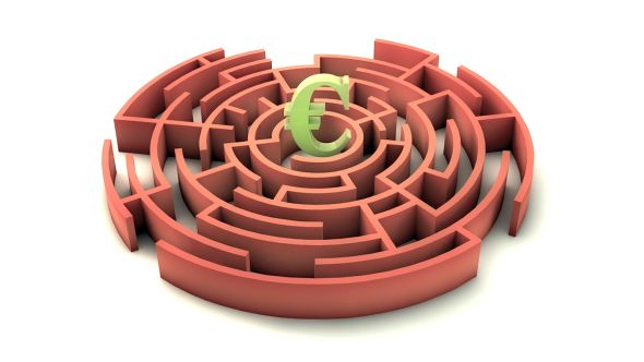 3d Maze With Euro Sign