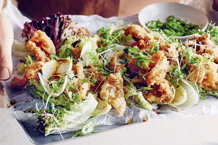 Crispy squid salad.