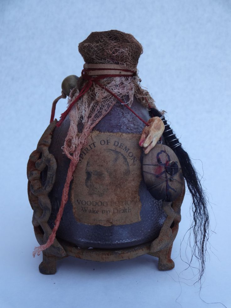 Wake Up Death Voodoo Potion Bottle by McCobbs on Etsy https://www.etsy.com/listing/385806646/wake-up-death-voodoo-potion-bottle
