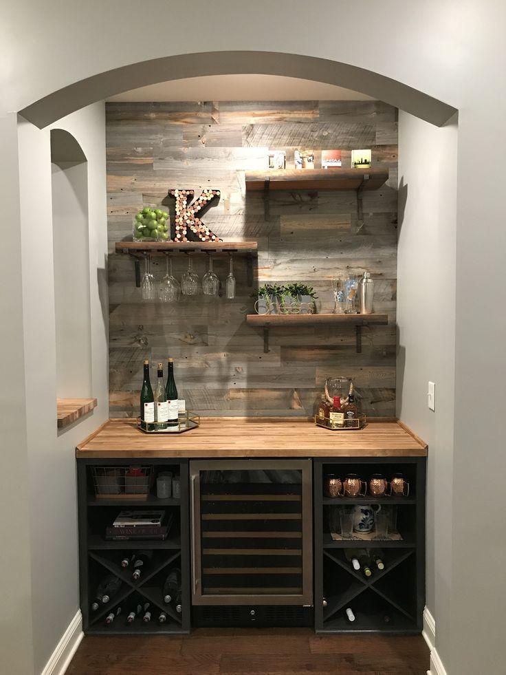 27 Creative Diy Coffee Bar Ideas For Your Cozy Home Bar Barideas Coffee Cozy Creative Diy Home Ideas Diy Hausbar Kuche Mit Theke Anrichte Buffet