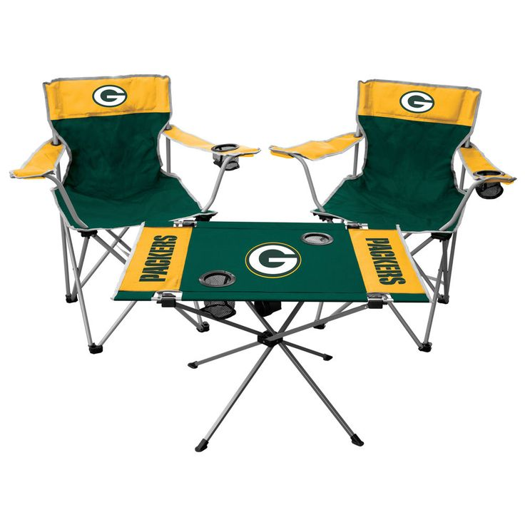 Green Bay Packers Rawlings Tailgate Chair And Table Set