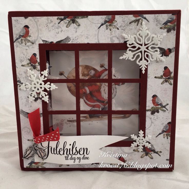 North Star Design, North Star Stamps, julekort, shadow box card