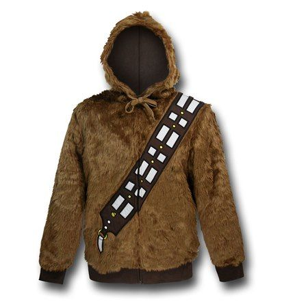 Now you too can be Han Solo's loyal friend and wingman Chewbacca with this great Chewbacca Costume Hoodie! This 100% polyester shell and 60% cotton / 40% polyester lining Chewbacca Costume Hoodie is in the very likeness of our wookie from Kashyyyk, complete with bowcaster bandolier! It is also made with fake fur, so you don't need to worry about us hunting wookies to bring you this heavy Chewbacca Costume Hoodie! On the bright side of things, people will always let you win board games if you…