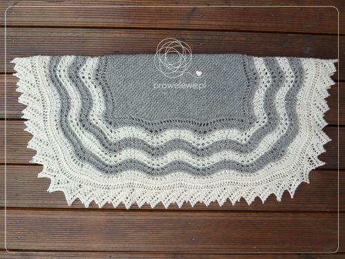 Old Shale Shetland Hap by Cathliin - pattern {www.prawelewe.pl}